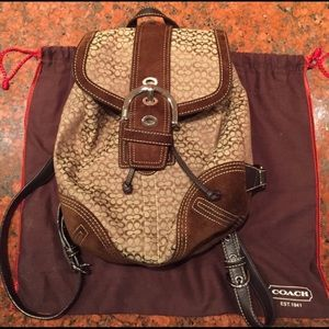 Coach Brown Khaki  Backpack, Authentic!